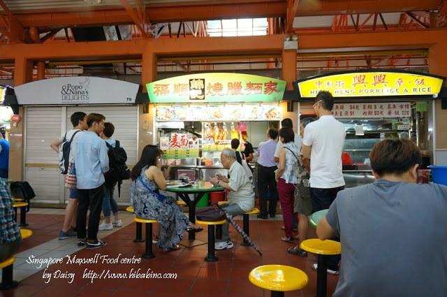 福順錦記燒臘麵家, 69號冰茶室, 牛車水, 燒臘飯, 新加坡美食, 新加坡自由行, 麥士威熟食中心