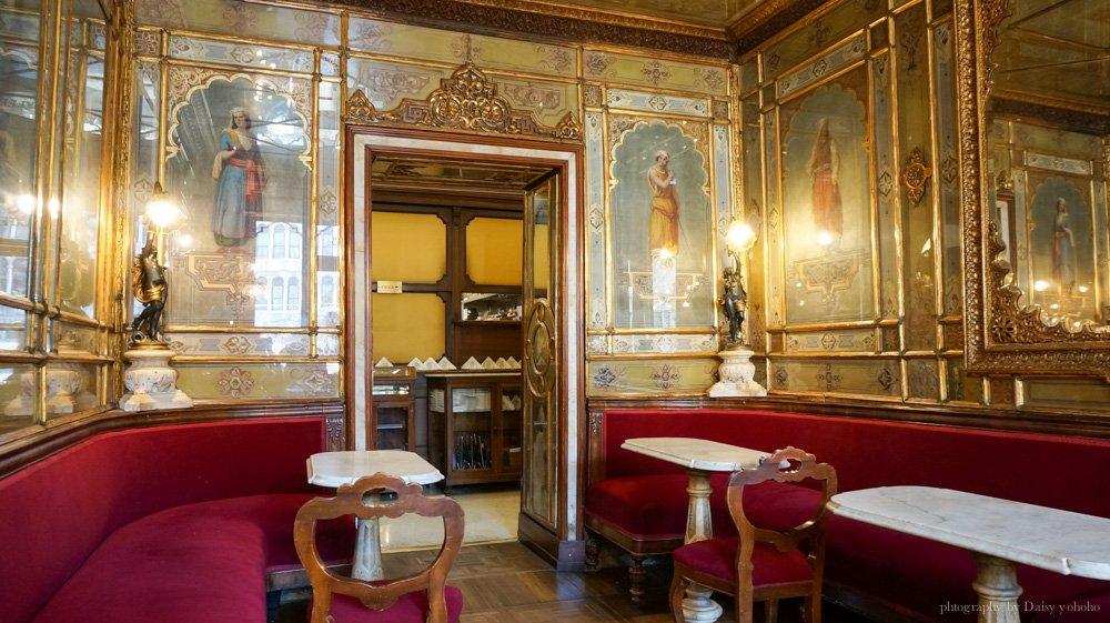 義大利美食, 威尼斯美食, 威尼斯下午茶, 歐洲旅遊, 義大利咖啡, 威尼斯咖啡館, 歐洲自助旅行