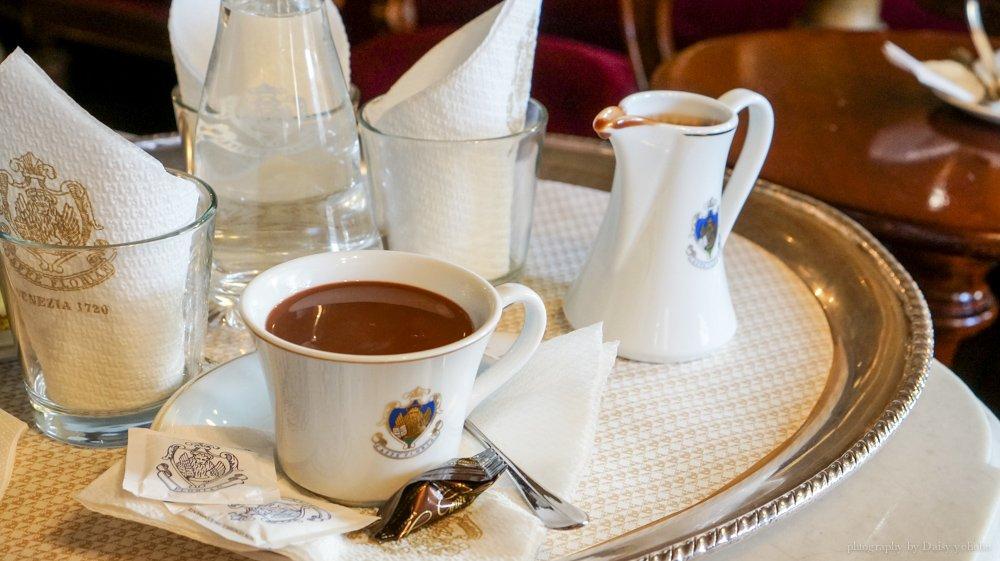 義大利美食, 威尼斯美食, 威尼斯下午茶, 歐洲旅遊, 義大利咖啡, 威尼斯咖啡館, 佛羅里安咖啡館, 歐洲自助旅行