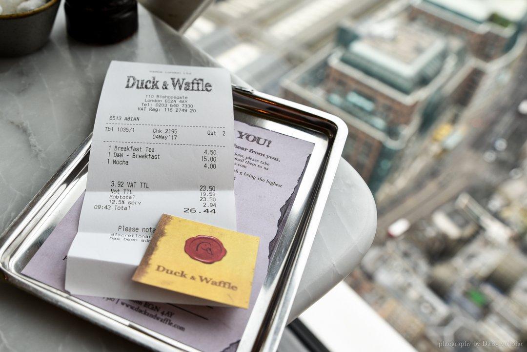 鴨肉鬆餅, 倫敦美食推薦, 倫敦觀景台, 英國美食, 觀景餐廳, Livepool station
