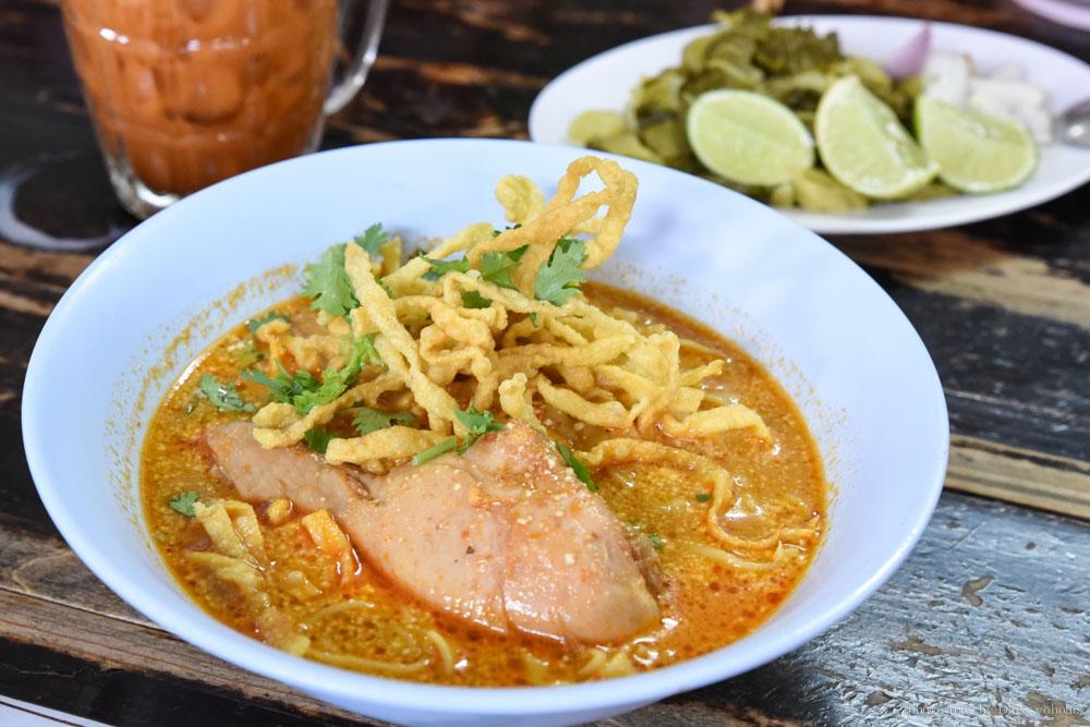 清邁小吃, 咖哩雞肉, 清邁美食, 清邁自由行, 清邁自助, curry-noodle
