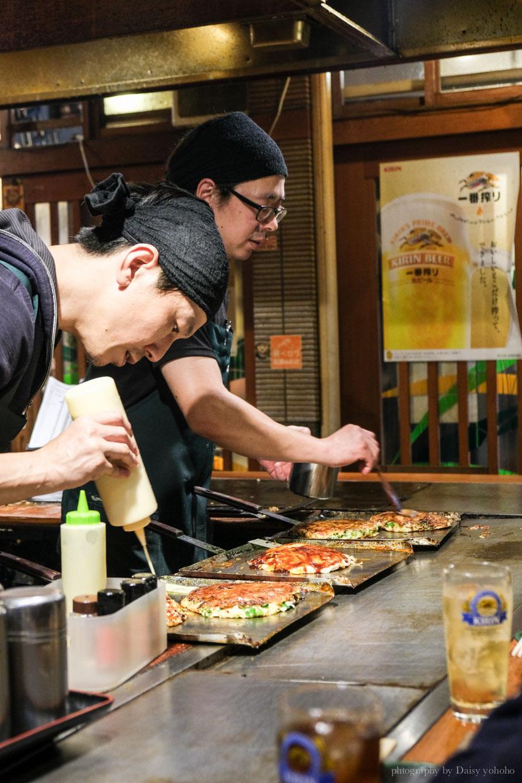 福太郎, 大阪燒, 大阪美食, 日本橋站, 大阪必吃, 喜好燒, 蔥燒, 大阪宵夜