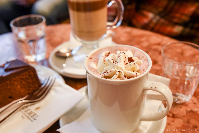 Demel Cafe, 德梅爾蛋糕店, 維也納美食, 維也納下午茶, 熱巧克力, 沙赫蛋糕, 沙河蛋糕