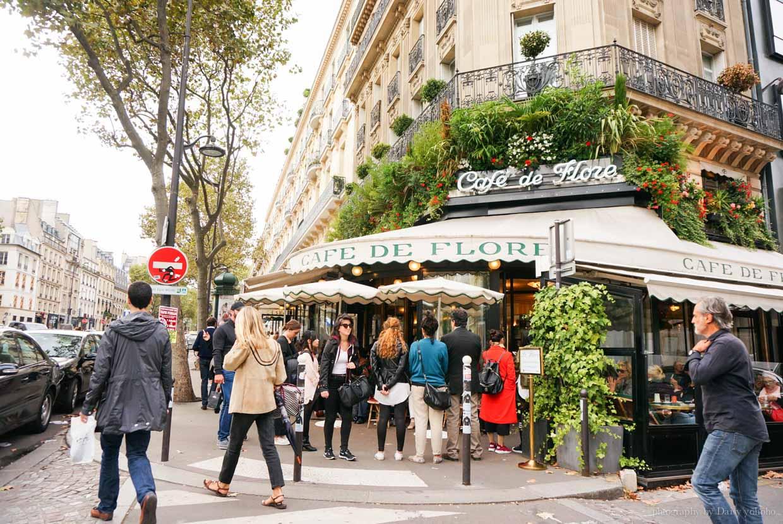 花神咖啡館, Cafe de Flore, 左岸咖啡館, 巴黎咖啡館, 巴黎美食, 巴黎下午茶