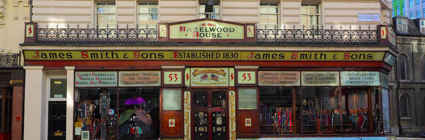 James Smith & Sons Ltd, 英國品牌, 英國雨傘, 倫敦雨傘, 英倫紳士品牌