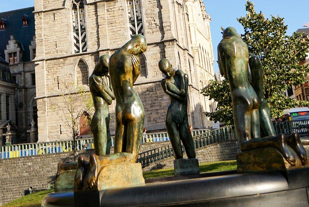 Kneeling Youth, 跪著的青年, 比利時藝術家作品, 喬治明尼, Georges Minne, 根特雕塑