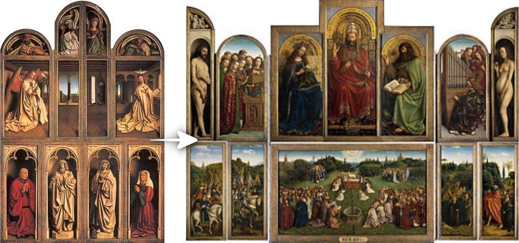 根特祭壇畫(Ghent Altarpiece),又名神秘羔羊之愛(Adoration of the Mystic Lamb)