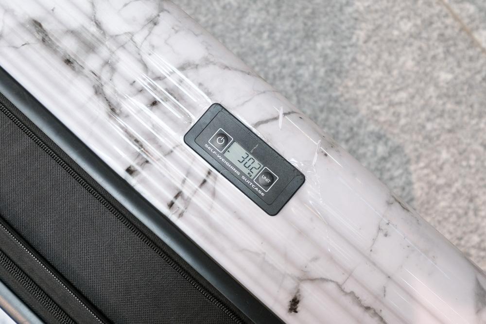 Flewflow paris 行李箱, 秤重行李箱, 大理石紋行李箱, 29吋行李箱, 白大理石行李, 里爾系列, 行李秤重