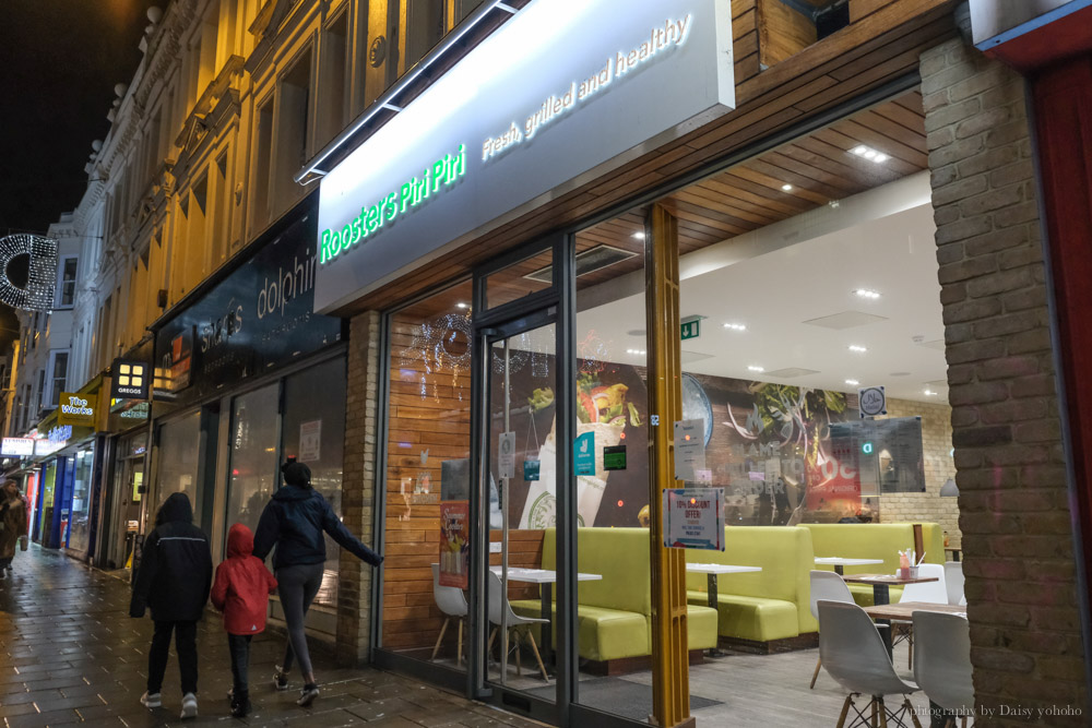 Roosters piri piri, 烤雞, Brighton 美食, 英國遊學, 布萊頓晚餐, Western Road, 烤雞料理