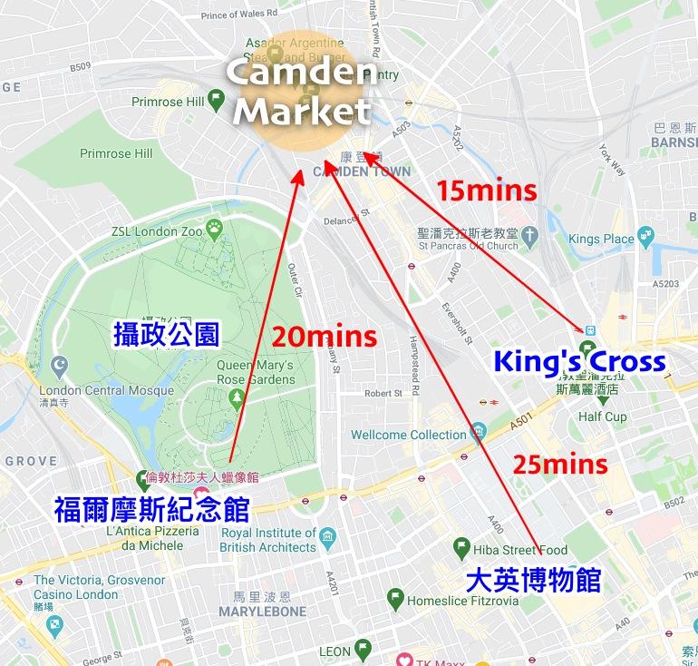 Camden Market, 肯頓市集, 倫敦景點, 倫敦市集, 倫敦小吃, 英國倫敦, Camden 交通方式