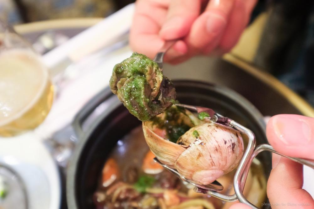 巴黎美食, 法式蝸牛料理, 巴黎蝸牛餐點, 法式料理, 羊膝, 紅酒燉牛肉, 法式鮪魚排