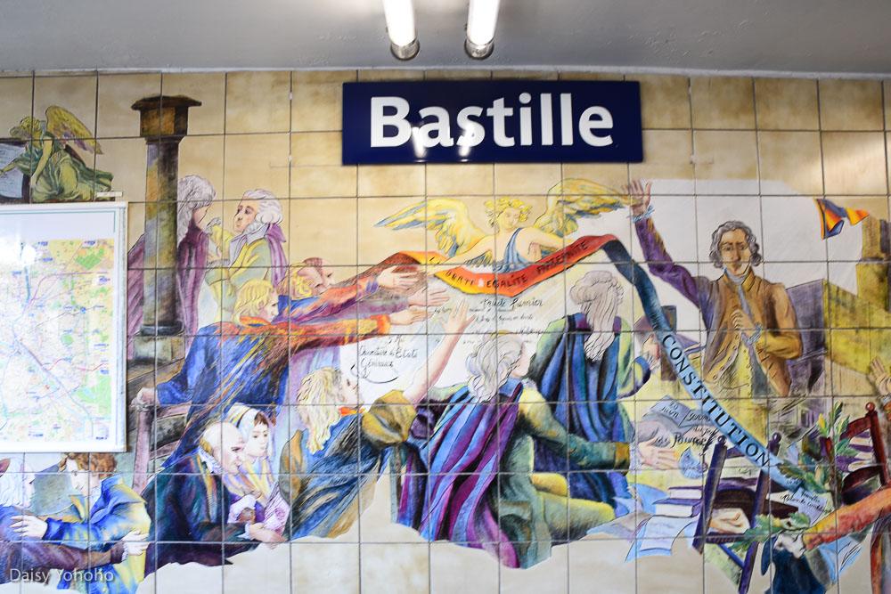 巴黎市集, 巴黎景點, 巴士底市集美食, 站著吃生蠔, 巴士底監獄