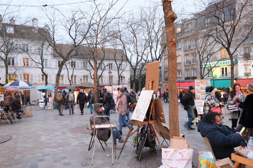 蒙馬特丘陵, 紅磨坊, 穿牆人, 聖心堂, 巴黎景點, 我愛你牆, 愛牆, 藝術家村, Montmartre