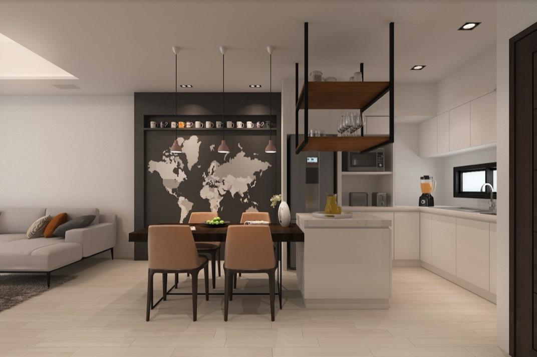 新家裝潢, 簡約風客廳設計, 柚木臥榻, 調光簾, 北歐風沙發, 玻璃鐵件拉門, 有情門磐石茶几, AJ2 馬爾默沙發
