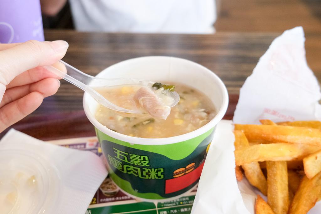 丹丹漢堡, 台灣速食店, 仁德美食, 仁德早餐, 台南早餐推薦, 鮮脆雞腿堡, 玉米濃湯, 麵線羹