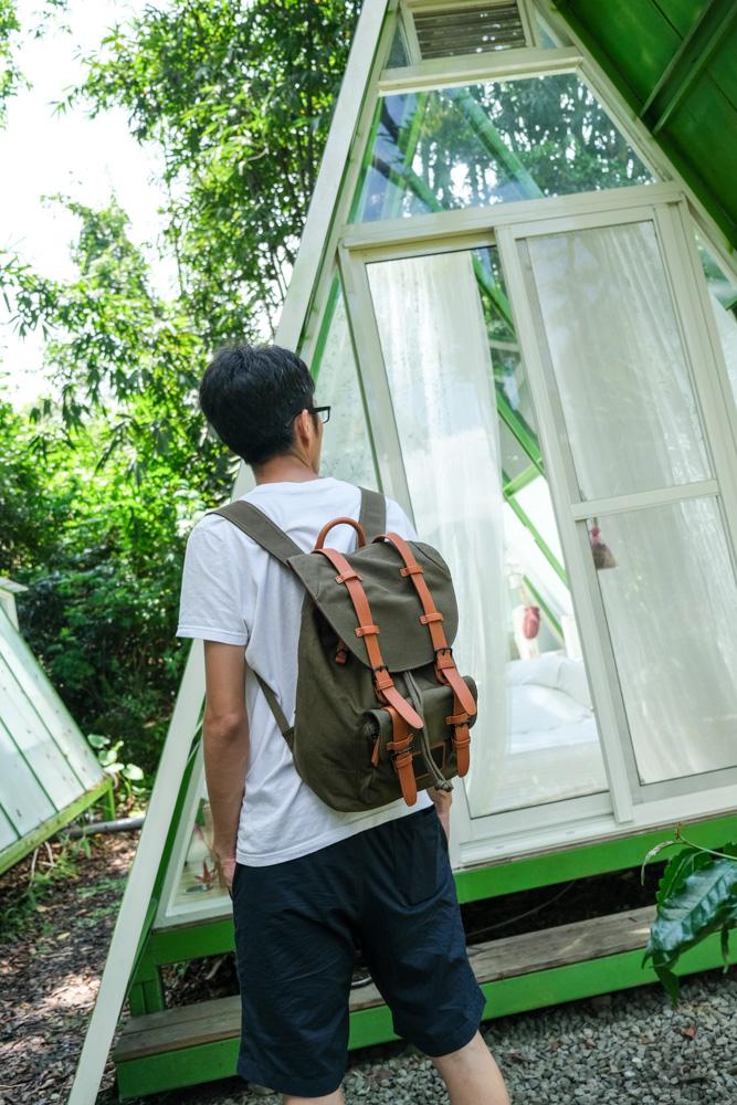 Gaston Luga後背包, Classic 經典後揹包, 橄欖綠, 13吋筆電後背包, 北歐設計雙肩包, 男背包, 全球免運費