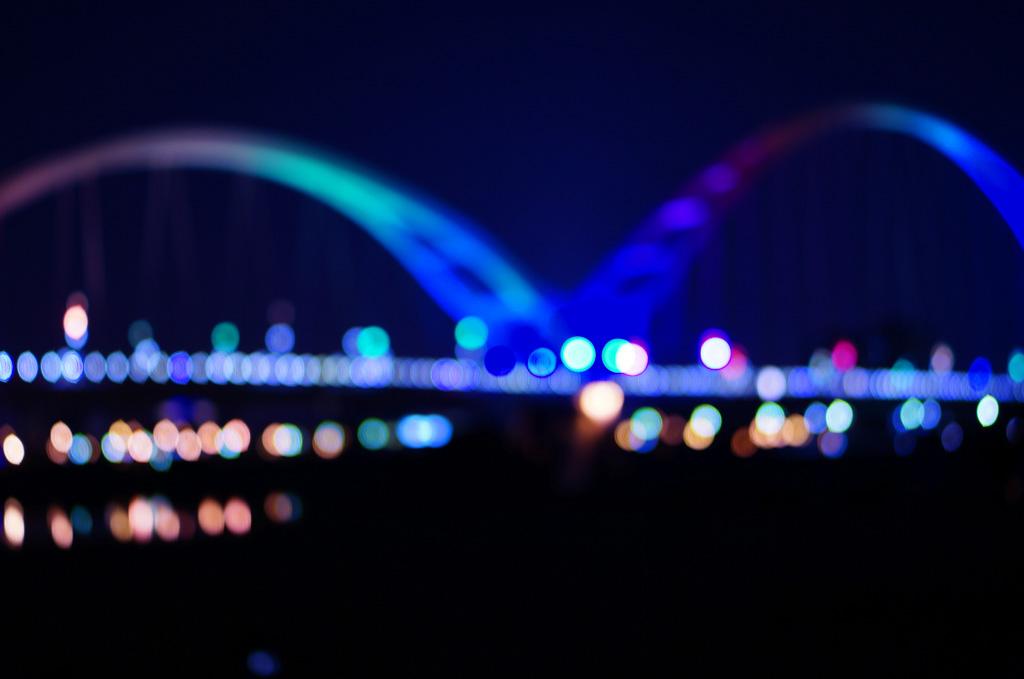 新月橋夜景, 板橋景點, 新北景點, 新月橋交通, 新月橋捷運