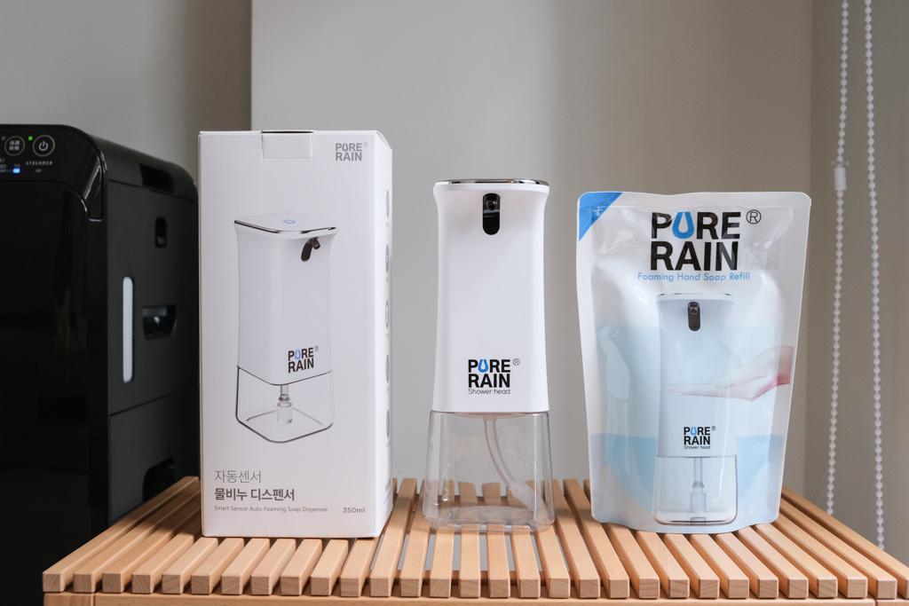 PureRain , 自動感應泡沫洗手機, 免綁定耗材, 洗手液補充包, 洗手機保固, 生活用品推薦, 居家生活, 自動洗手機, 韓國Aroma Sense