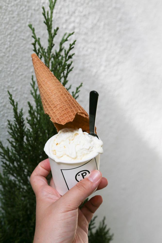 膨餅冰淇淋, 椪餅冰淇淋, 台南孔廟, Pistacchio, 綠皮開心果, 保哥黑輪, 台南美食, 台南小吃, 台南孔廟美食