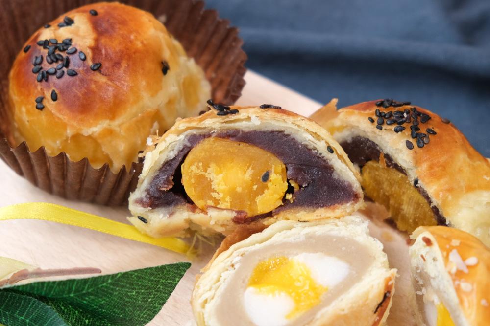 Bake Code, 烘焙密碼, 蛋黃酥, 中秋月餅禮盒, 中秋節月餅, 芋泥流沙酥, 紅豆蛋黃酥
