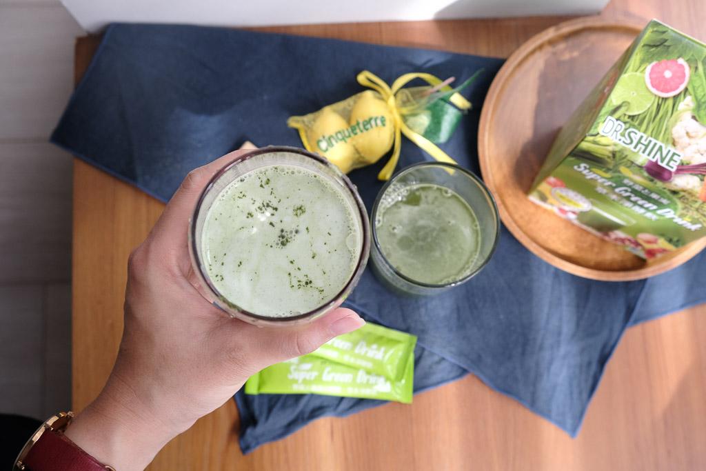 草本淨酵飲團購, Dr. Shine, Super Green Drink, 林心如代言, 一日五蔬果, 蔬菜粉, 草本纖維, 好攜帶果菜汁