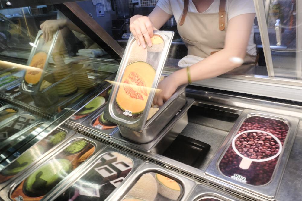 Vita維特冰淇淋專門店, 台南義式冰淇淋, 富農街美食, 花生冰淇淋, 哈密瓜冰淇淋