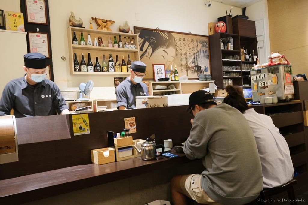 海安路宵夜益田居酒屋, 玫瑰生魚片, 炸蝦壽司, 台南居酒屋, 台南宵夜, 海安路美食, 台南日本料理, 海安路日本料理