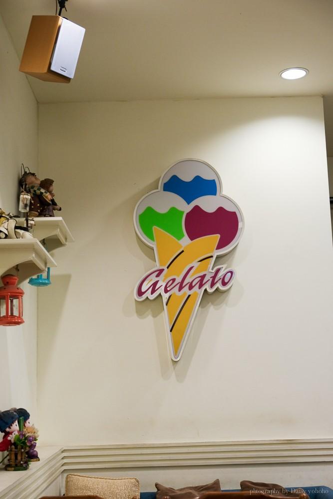 得意吉義式冰淇淋店, Dishege, 得意吉買一送一, 北區美食, 北區冰淇淋, 台南義式冰淇淋, 草莓鬆餅