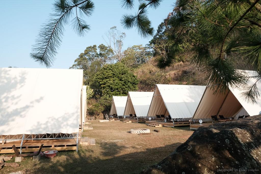 台中 glamping 推薦,蟬說山中靜靜,不用行李的入住豪華帳篷,懶人露營