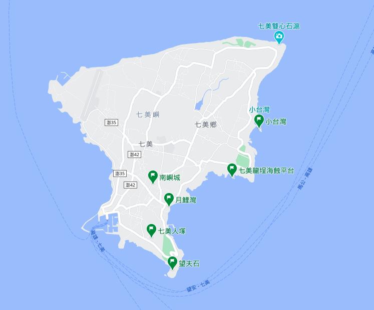 七美景點, 七美景點地圖, 望安七美, 澎湖自由行