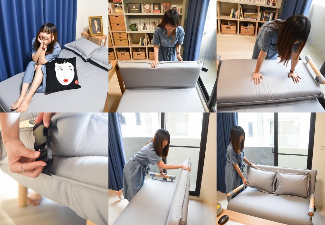 aj2沙發床, AJ2奧圖沙發床, 北歐風沙發床推薦, 小坪數沙發, 套房沙發, 雙人座沙發床, aj2愛家概念, 好睡的沙發床石墨灰