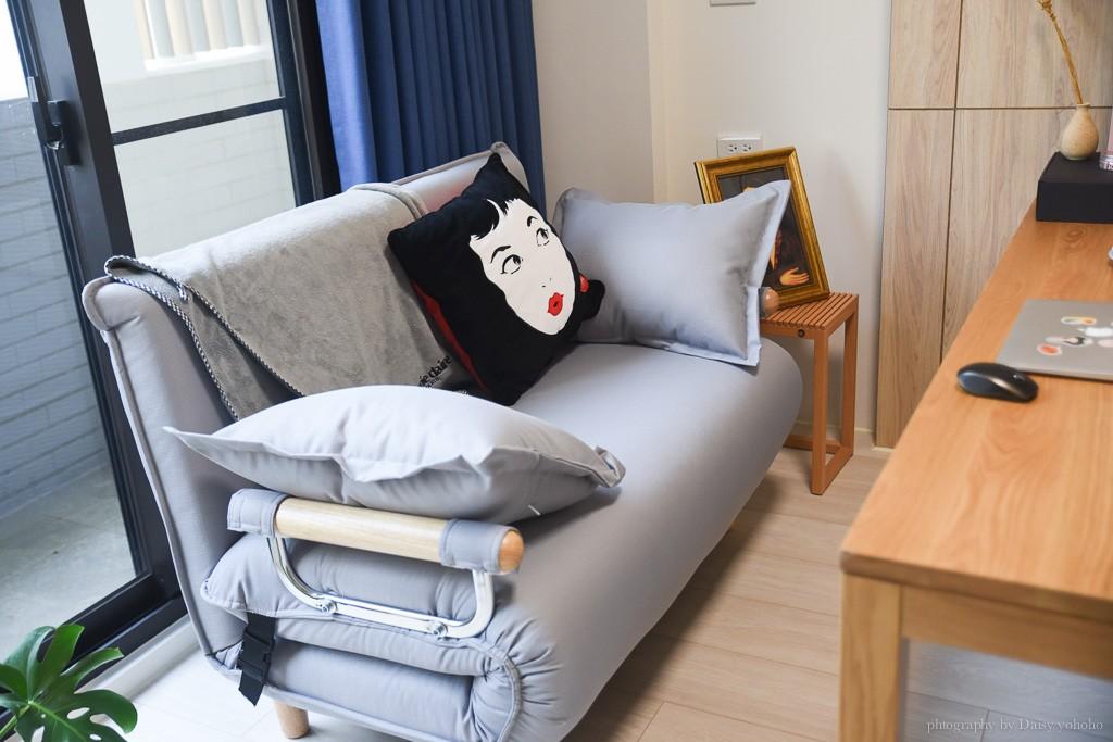 沙發床推薦, 北歐無印風書房設計, 無印良品書桌, aj2沙發床, 無印藤籃, 日式居家, 無印收納櫃, 無印風書櫃