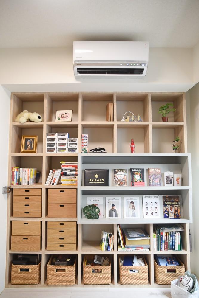 aj2奧圖沙發床, 北歐風書房, 無印風書房, 無印風書櫃, 北歐風裝潢設計, 工作室設計, 書牆, 小坪數裝潢, 客書房兩用, 誠品風書房