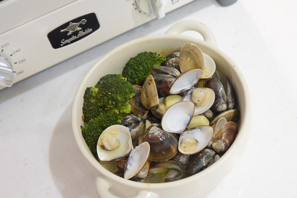 日本千石阿拉丁烤箱, 阿拉丁烤箱食譜, 阿拉丁料理, 蒜香奶油蛤蜊