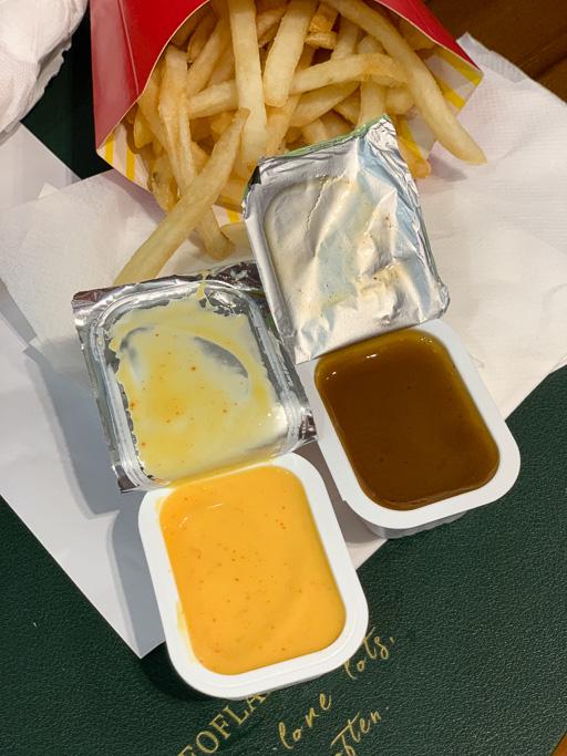 the bts meal, 麥當勞防彈少年團套餐, 2021期間限定麥當勞套餐, BTS 套餐, 韓國沾醬, 麥克雞塊, 肯瓊醬