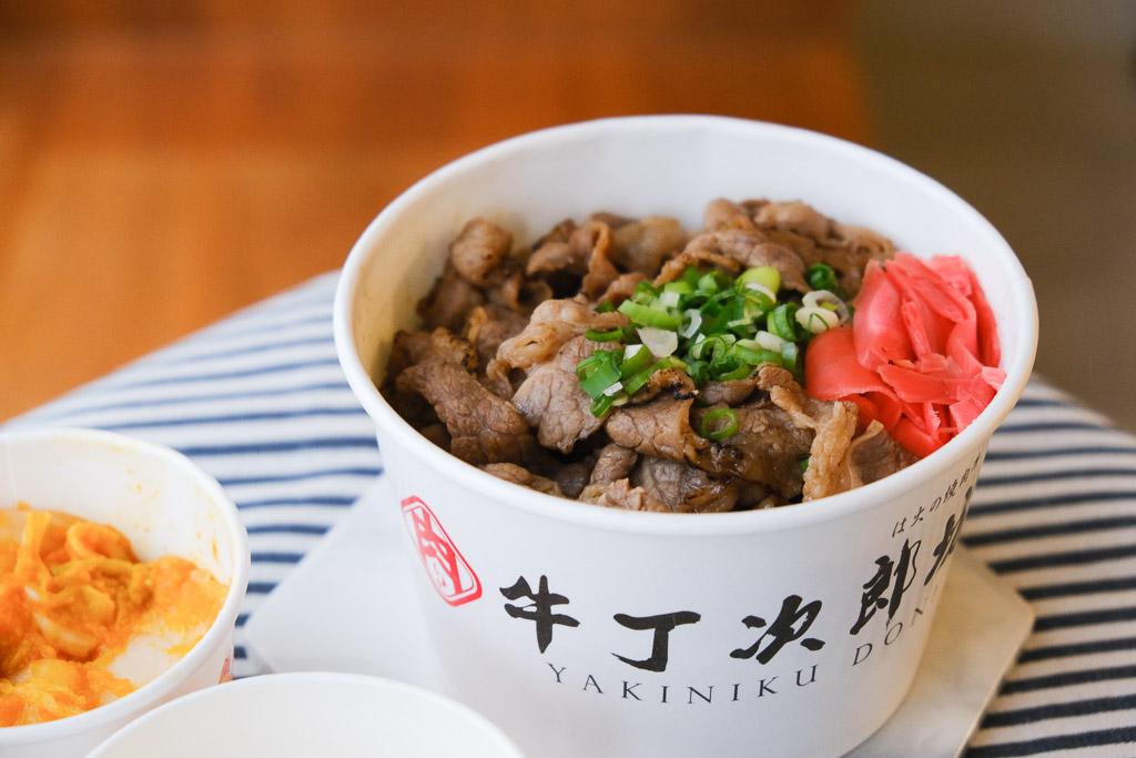 牛丁次郎坊,台南崇德支店,炙燒極盛肉山~安格斯黑牛後腹肉丼,肉比飯還多!