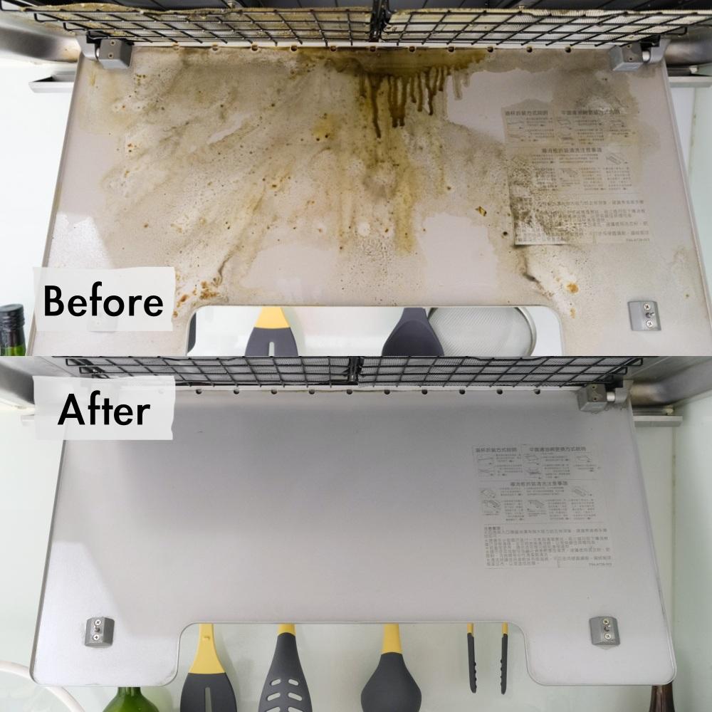 淨毒五郎廚房清潔, 天然無害環保居家清潔用品, 去油污廚房清潔慕斯, 不傷手清潔劑, 抽油煙機清洗方式