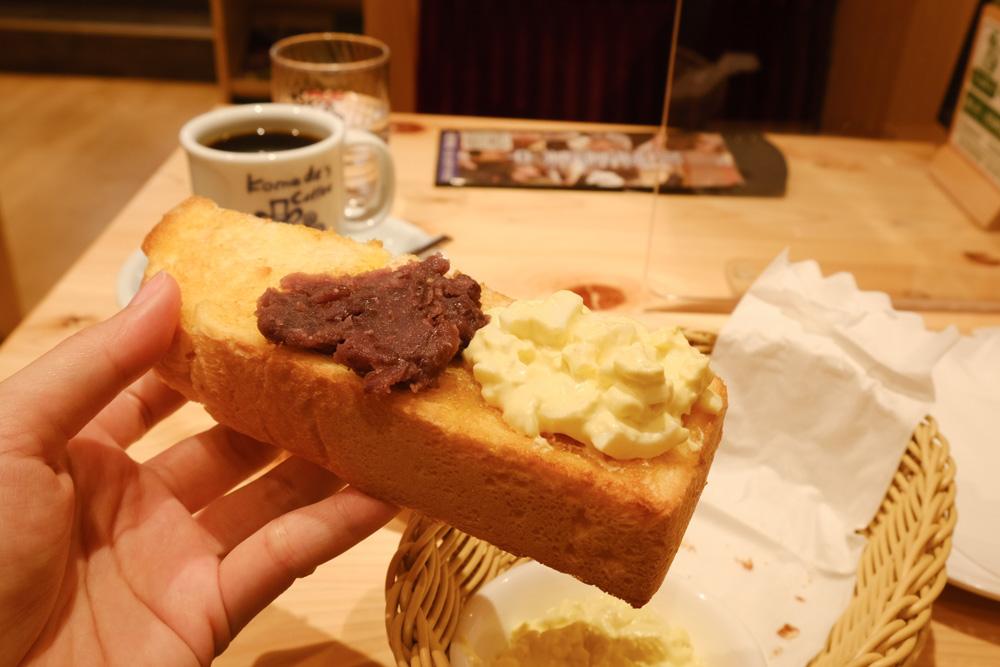 Komeda's Coffee, 客美多咖啡台北站前店, 台北車站早餐, 台北車站美食, 買飲料送早餐, 厚片吐司, 日本來台, 客美多咖啡菜單