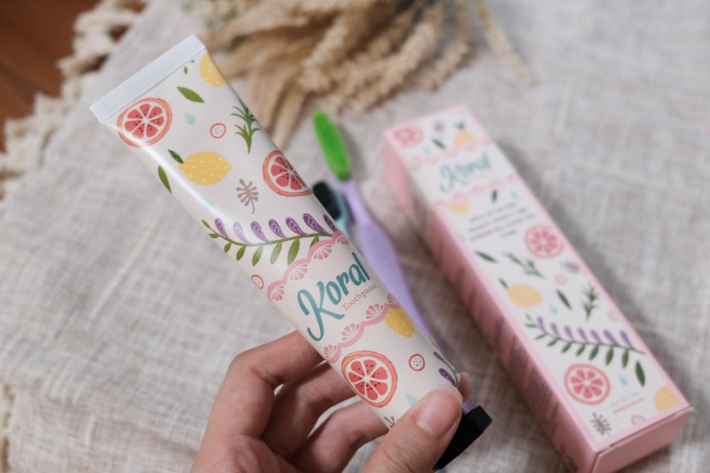 韓國 Koral「小仙女牙膏」、「巨巨牙刷」成份天然、素食者、孕婦、小孩都適用~