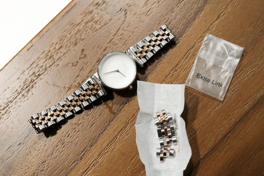 nordgreen Unika, 白錶盤, 玫瑰金五珠精鋼, 玫瑰金錶帶, 北歐手錶推薦, 丹麥設計