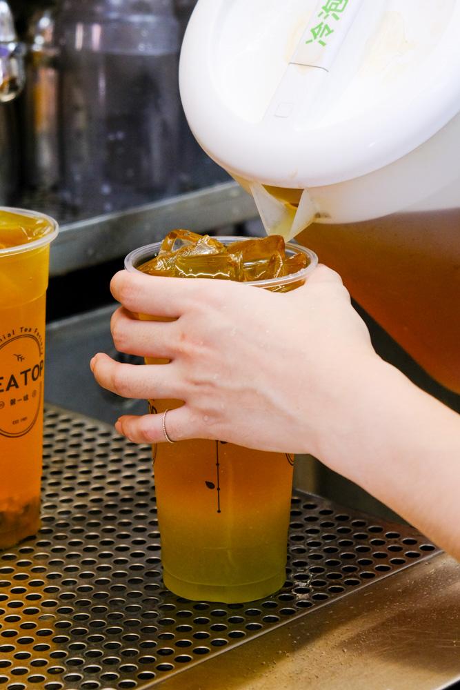TEA TOP 第一味,民雄建國店,百年製茶世家「長順名茶」端出的好茶手搖飲